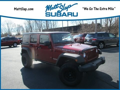 Deep Cherry Red Crystal Pearl 2012 Jeep Wrangler Unlimited Rubicon 4x4
