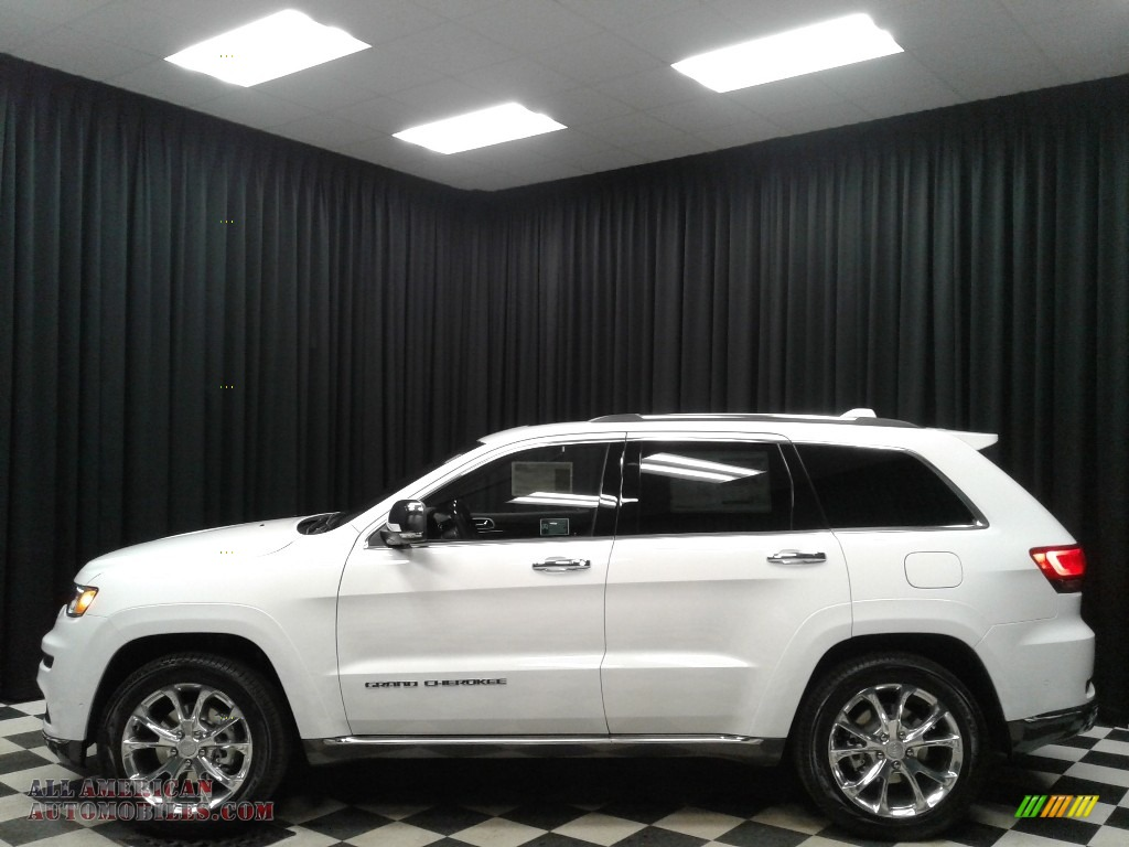 Bright White / Brown Jeep Grand Cherokee Summit 4x4