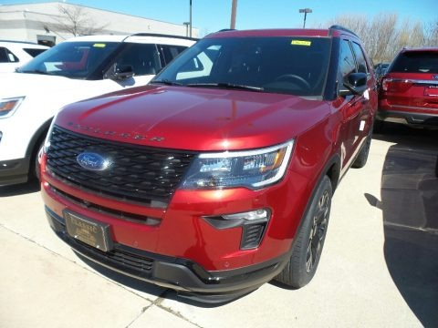 Ruby Red 2019 Ford Explorer Sport 4WD