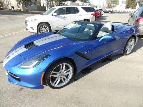 Elkhart Lake Blue Metallic 2019 Chevrolet Corvette Stingray Convertible