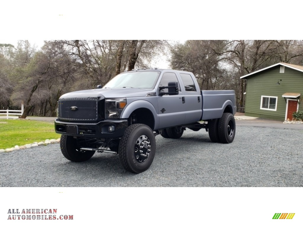 2011 F350 Super Duty Lariat Crew Cab 4x4 Dually - Sterling Gray Metallic / Black photo #1