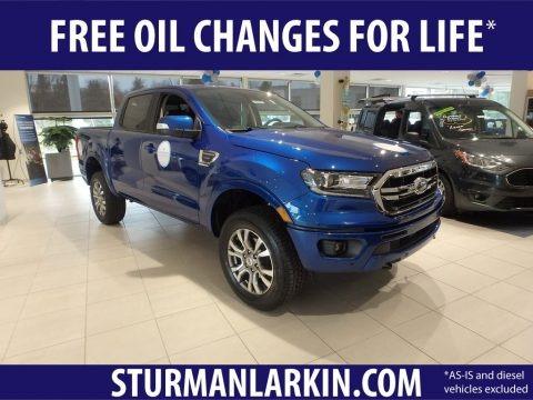 Lightning Blue Metallic 2019 Ford Ranger Lariat SuperCrew 4x4