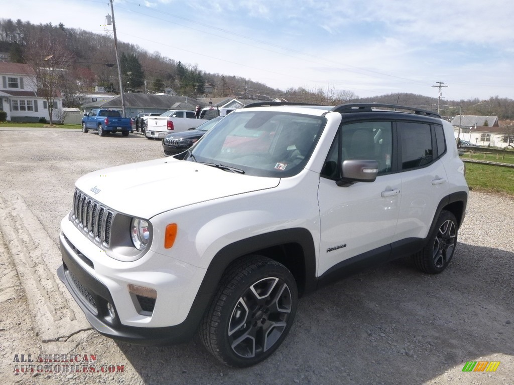 2019 Renegade Limited 4x4 - Alpine White / Black photo #1