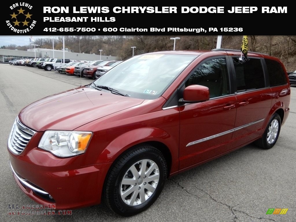 2013 Town & Country Touring - Deep Cherry Red Crystal Pearl / Dark Frost Beige/Medium Frost Beige photo #1