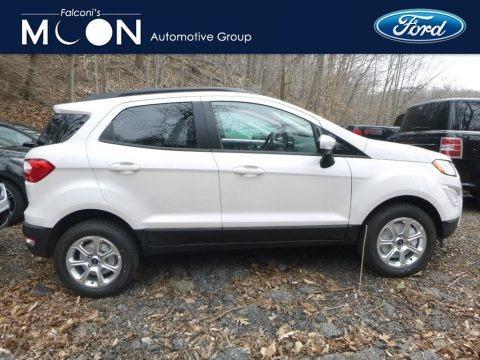 White Platinum Metallic 2019 Ford EcoSport SE 4WD