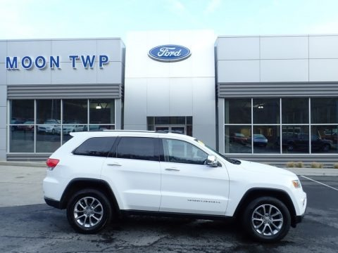Bright White 2015 Jeep Grand Cherokee Limited 4x4