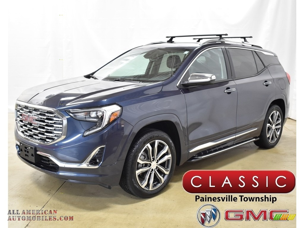 Blue Steel Metallic / ­Jet Black GMC Terrain Denali AWD