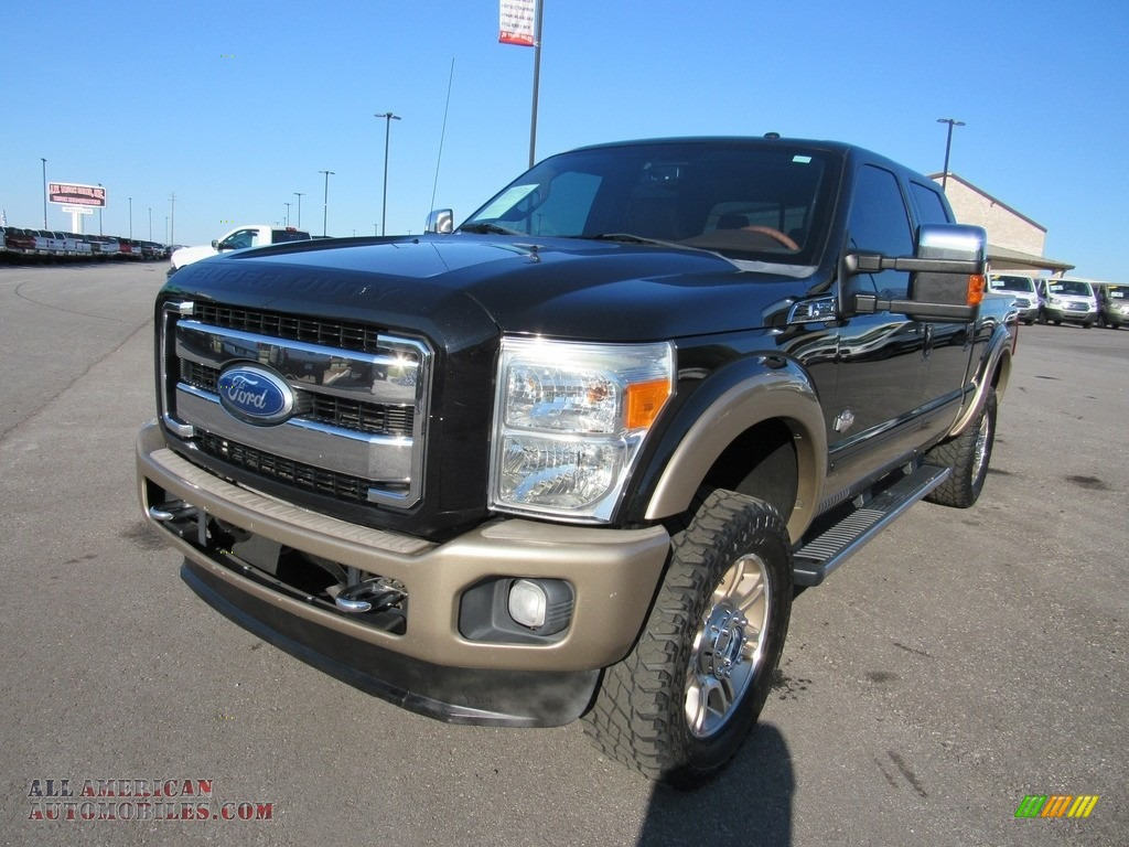 Tuxedo Black / Adobe Ford F350 Super Duty Lariat Crew Cab 4x4
