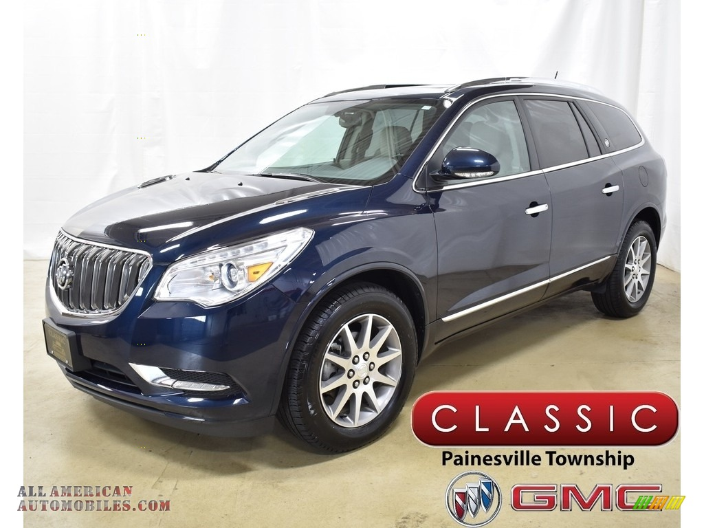 2016 Enclave Leather AWD - Dark Sapphire Blue Metallic / Light Titanium/Dark Titanium photo #1