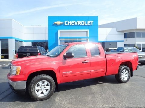 Fire Red 2013 GMC Sierra 1500 SLE Extended Cab 4x4
