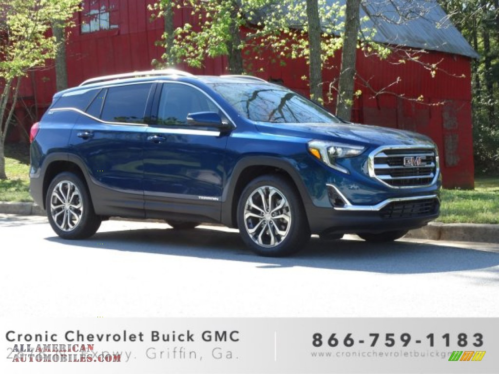 2019 Terrain SLT - Blue Emerald Metallic / Jet Black photo #1