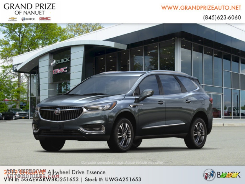 Dark Slate Metallic / Dark Galvanized/Ebony Accents Buick Enclave Essence AWD