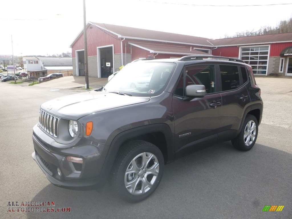 Granite Crystal Metallic / Black Jeep Renegade Limited 4x4