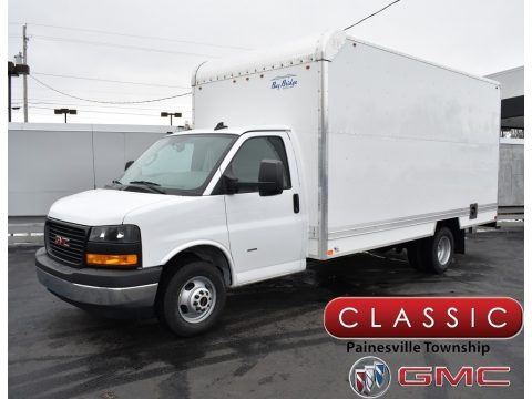 Summit White 2019 GMC Savana Cutaway 3500 Commercial Moving Truck