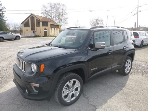 Black 2019 Jeep Renegade Limited 4x4
