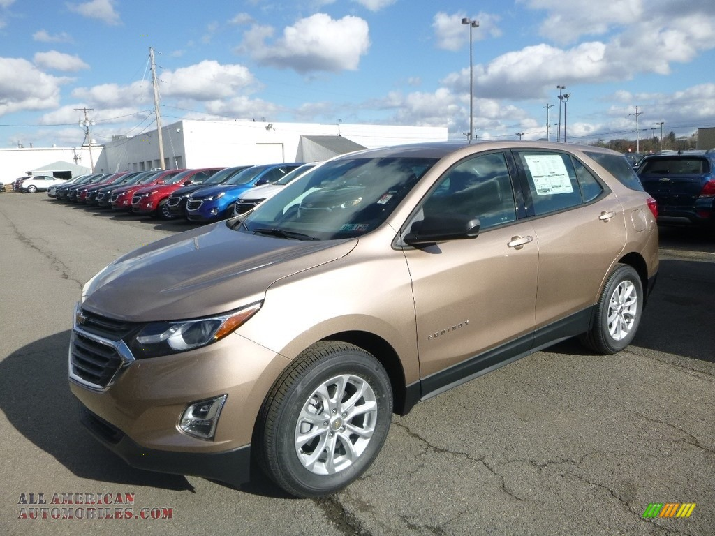 2019 Equinox LS - Sandy Ridge Metallic / Medium Ash Gray photo #1