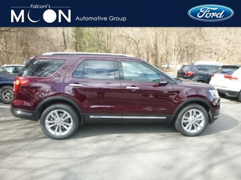 Burgundy Velvet 2019 Ford Explorer Limited 4WD