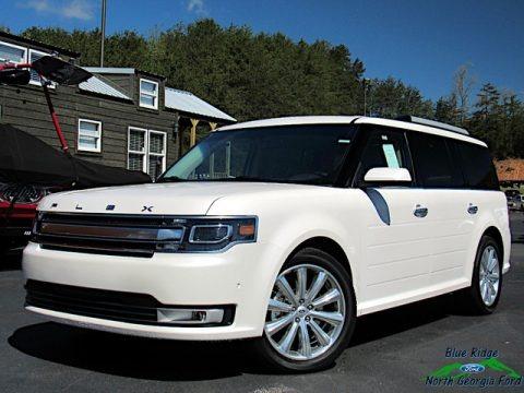White Platinum 2019 Ford Flex Limited AWD