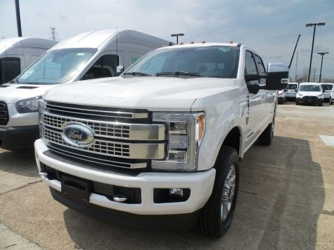 White Platinum 2019 Ford F350 Super Duty Platinum Crew Cab 4x4