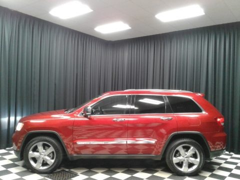 Inferno Red Crystal Pearl 2011 Jeep Grand Cherokee Limited 4x4