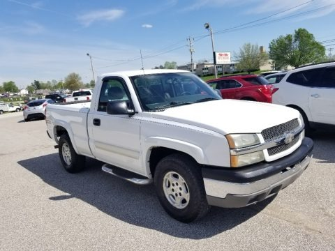 Summit White 2004 Chevrolet Silverado 1500 Z71 Regular Cab 4x4