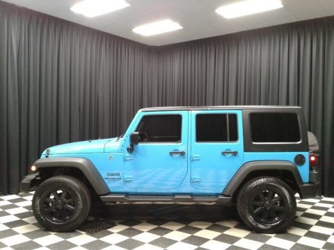Chief Blue 2017 Jeep Wrangler Unlimited Sport 4x4