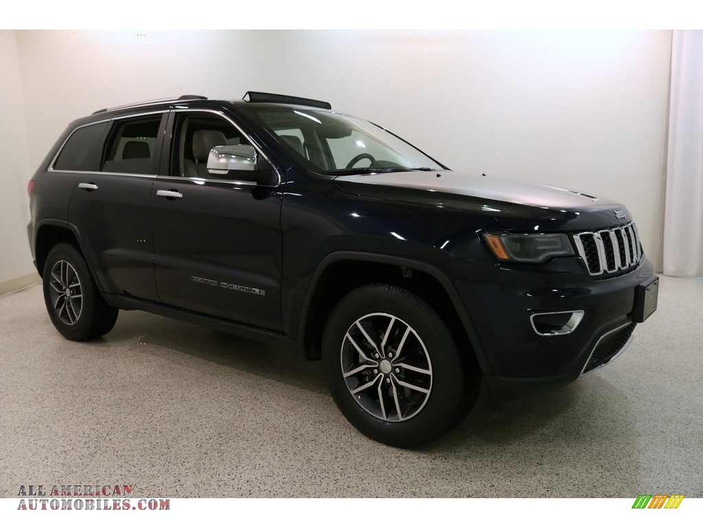 2018 Grand Cherokee Limited 4x4 - True Blue Pearl / Black/Light Frost Beige photo #1