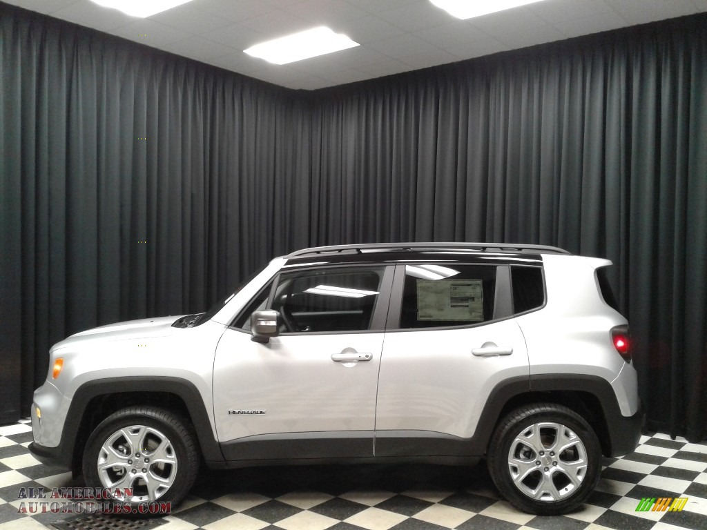 Glacier Metallic / Black Jeep Renegade Limited 4x4