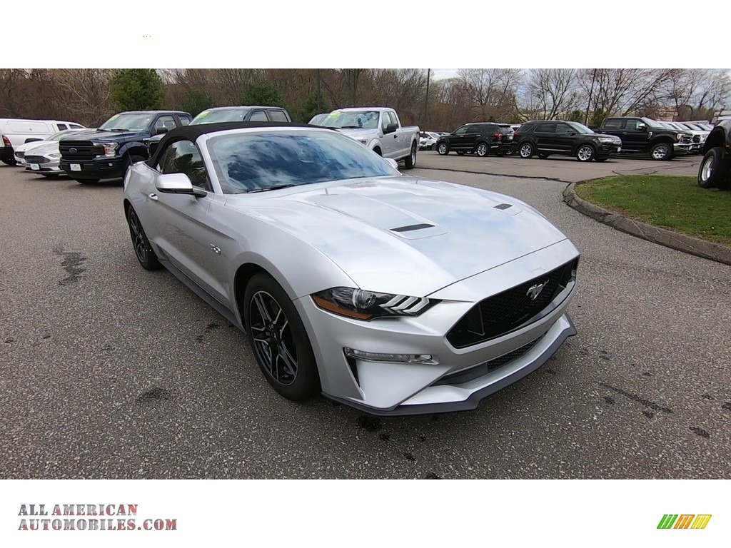 2019 Mustang GT Premium Convertible - Ingot Silver / Ebony photo #1