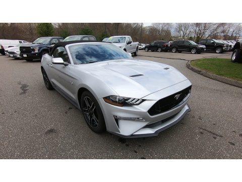 Ingot Silver 2019 Ford Mustang GT Premium Convertible