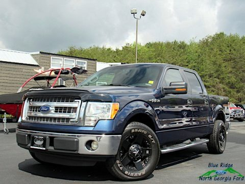 Blue Jeans Metallic 2013 Ford F150 XLT SuperCrew