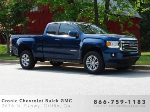 Blue Emerald Metallic 2019 GMC Canyon SLE Extended Cab
