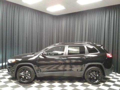 Diamond Black Crystal Pearl 2019 Jeep Cherokee Latitude Plus