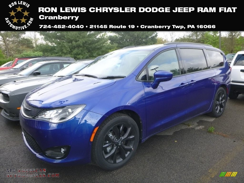 2019 Pacifica Touring L - Ocean Blue Metallic / Black/Black photo #1