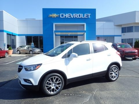 Summit White 2017 Buick Encore Sport Touring AWD