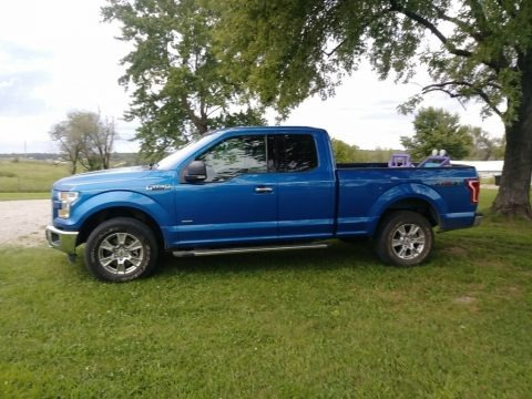 Blue Flame Metallic 2015 Ford F150 XLT SuperCab 4x4