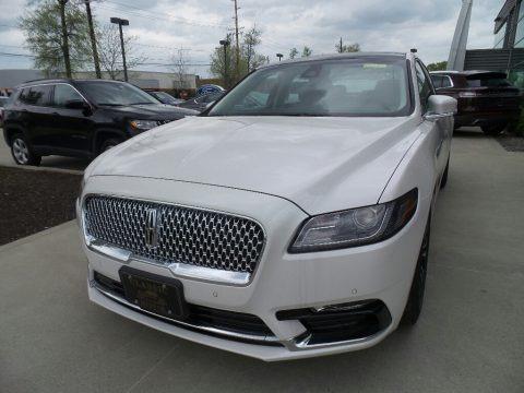 White Platinum Metallic Tri-Coat 2019 Lincoln Continental Select AWD