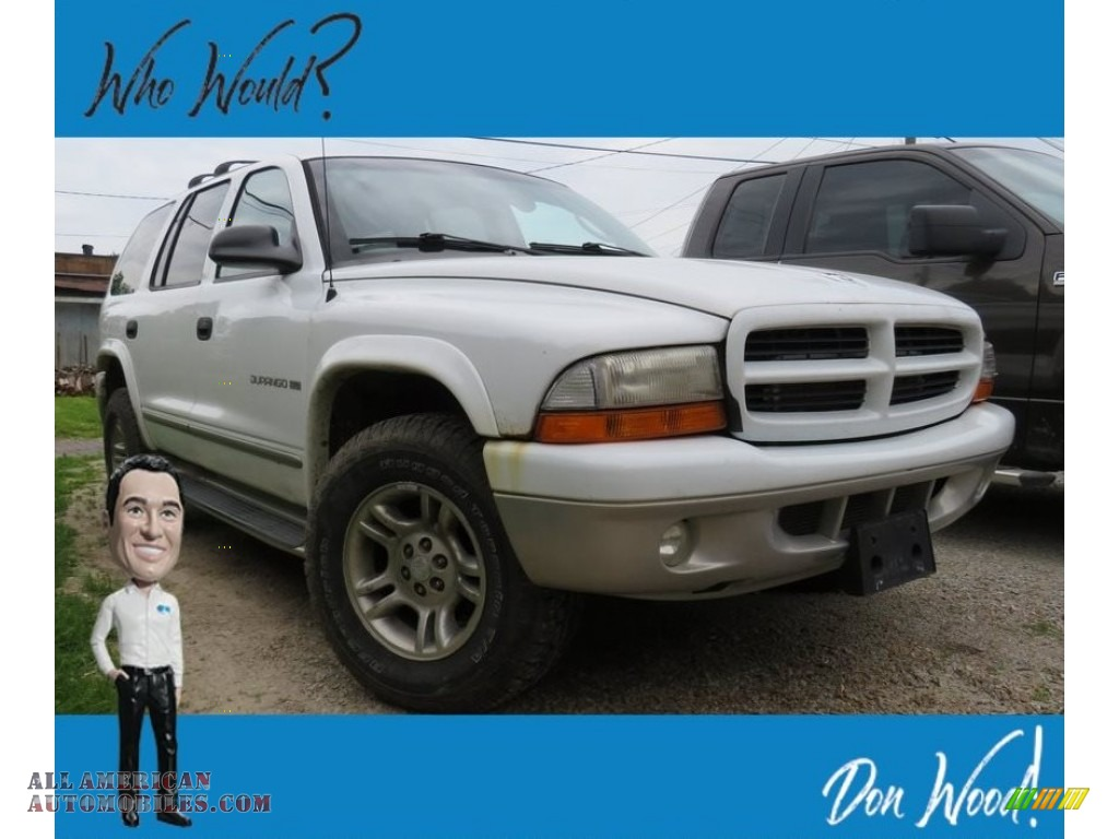 2001 Durango SLT 4x4 - Bright White / Dark Slate Gray/Taupe photo #1