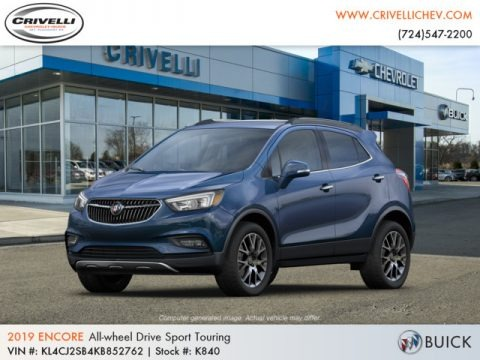 Deep Azure Metallic 2019 Buick Encore Sport Touring AWD