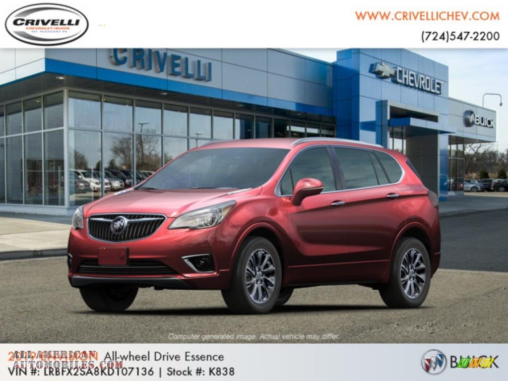Chili Red Metallic / Ebony Buick Envision Essence AWD