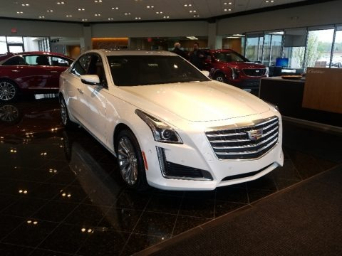Crystal White Tricoat 2019 Cadillac CTS Premium Luxury AWD