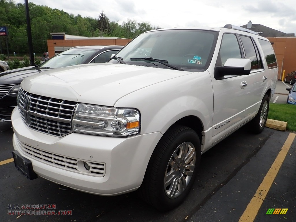 2012 Navigator 4x4 - White Platinum Metallic Tri-Coat / Canyon/Black photo #1