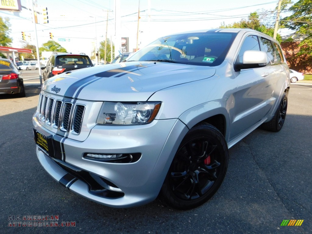 2012 Grand Cherokee SRT8 4x4 - Bright Silver Metallic / SRT Black photo #1