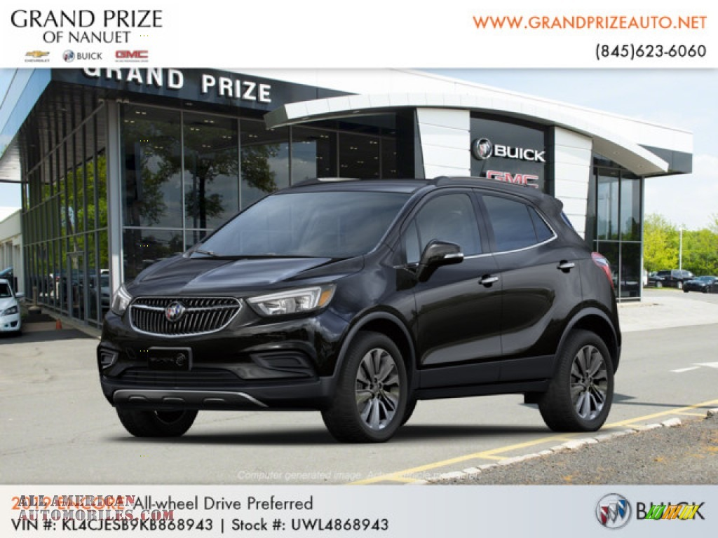 2019 Encore Preferred AWD - Ebony Twilight Metallic / Ebony photo #1