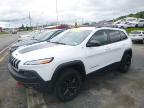 Bright White 2017 Jeep Cherokee Trailhawk 4x4