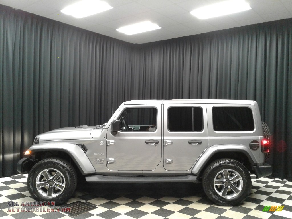 2019 Wrangler Unlimited Sahara 4x4 - Billet Silver Metallic / Black/Heritage Tan photo #1