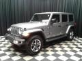 Jeep Wrangler Unlimited Sahara 4x4 Billet Silver Metallic photo #2