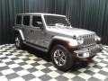 Jeep Wrangler Unlimited Sahara 4x4 Billet Silver Metallic photo #4