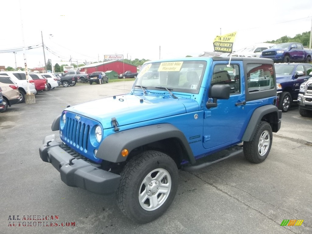 2015 Wrangler Sport 4x4 - Hydro Blue Pearl / Black photo #1