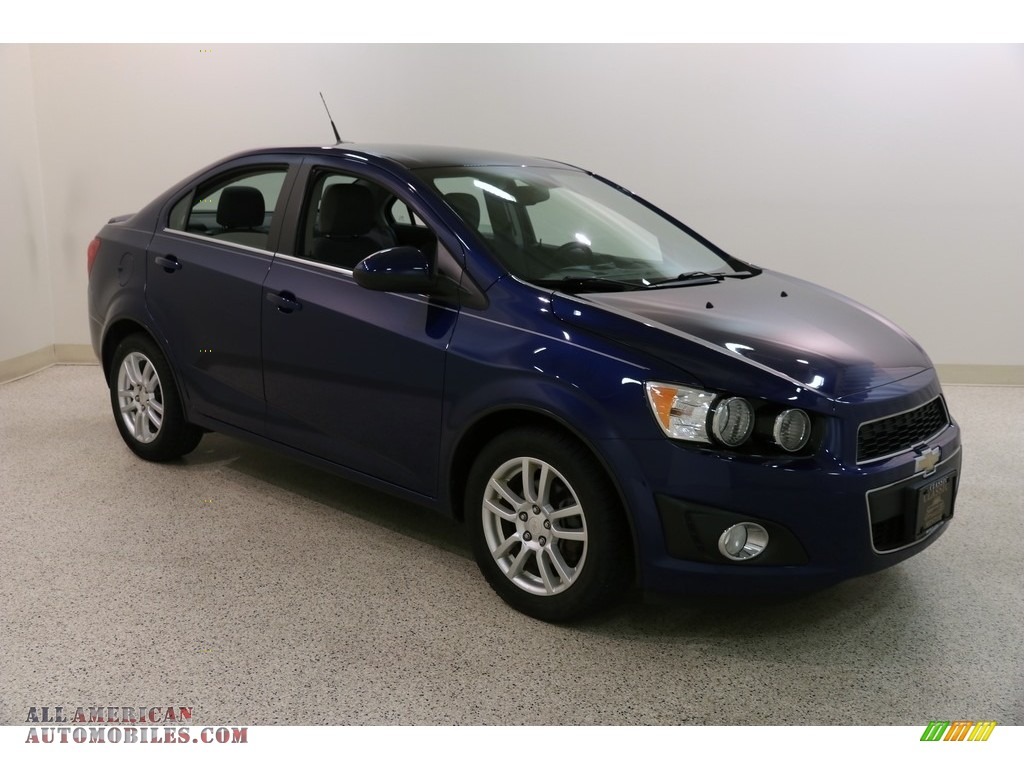 Blue Topaz Metallic / Dark Pewter/Dark Titanium Chevrolet Sonic LT Sedan
